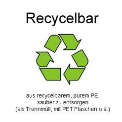 Recycelbares Polyethylen PE